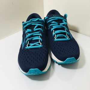 Brooks Womens Ravenna 9 Navy Blue Green Running Sh